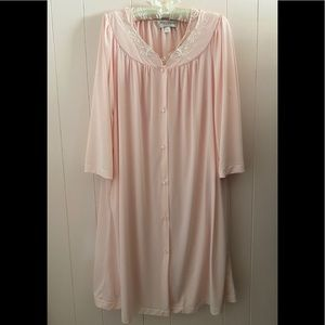 Miss Elaine Pink Gown&Robe Set Great Condition MED
